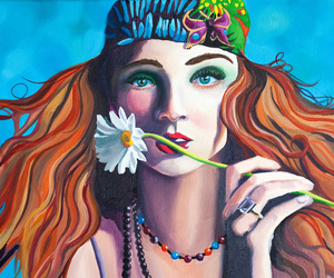 hippie, art, and flower image