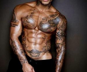 tattos, attractive, and beautiful image
