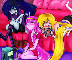 adventure time, marceline, and fionna image