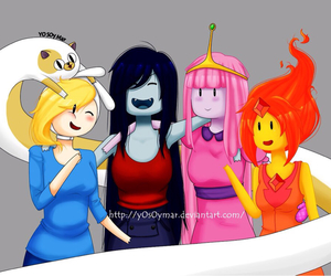 girls, marceline, and adventure time image