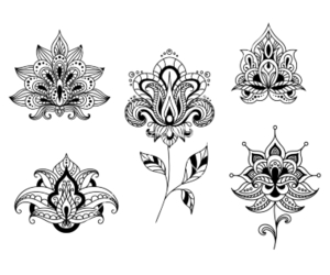 floral, lotus, and tattoo image
