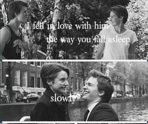 in love, slowly, and fault in our stars image