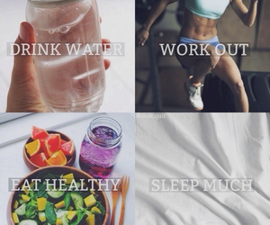 drink, fitness, and work image