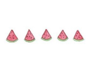 edit, triangle, and watermelon image