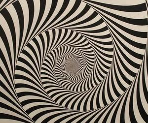 black and white, illusion, and OMG image