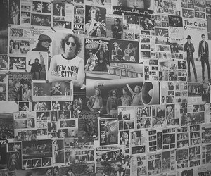 music, wall, and vintage image