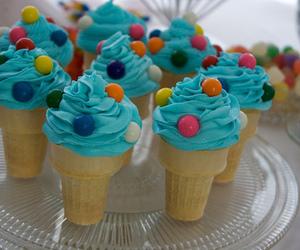 ice cream, blue, and food image