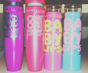maybeline, one by one, and baby lips image