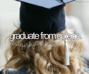 college, girl, and graduate image