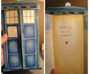 tardis, doctor who, and card image