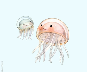drawing and jellyfish image