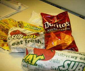 subway, doritos, and sandwhich image