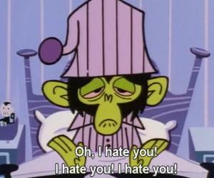 hate, i hate you, and cartoon image