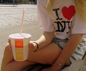 blonde, coke, and girl image