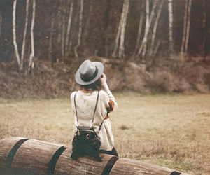 girl, photography, and hat image