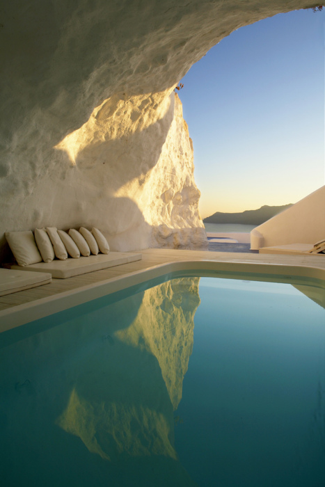 Greece, pool, and cave image