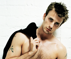 actor, shirtless, and steve rogers image