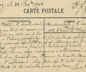french, 1916, and carte postale image