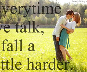 love, couple, and talk image