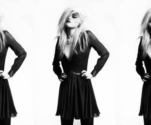 black and white, girl, and hedi slimane image