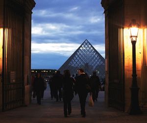 lights, louvre, and midnight image
