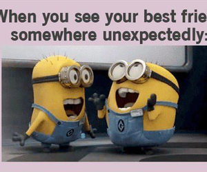 besties, minions, and quotes image