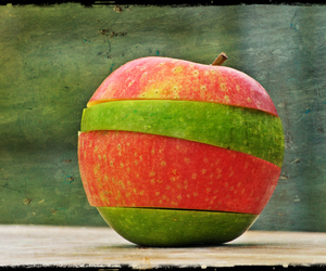 green, cute, and apple image