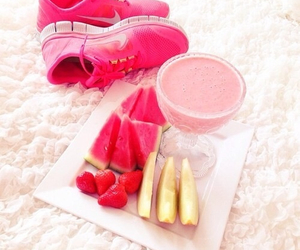 pink, fruit, and nike image