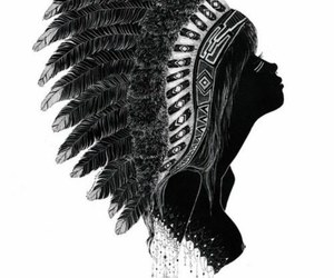 indian, art, and black and white image