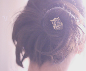 owl, hair, and cute image