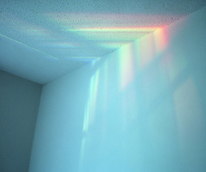 light, rainbow, and blue colouring image