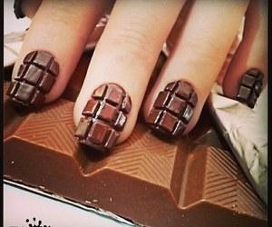 chocolate, nails, and nailart image