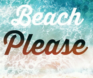 beach, summer, and lets go image