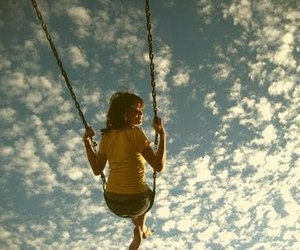 photography, sky, and swings image
