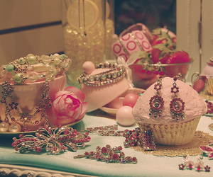 pink and jewelry image