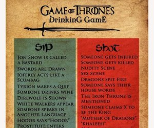 drinking, funny, and game of thrones image