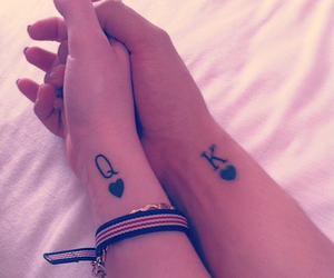 couple, tattoo, and king image