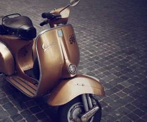 Vespa, gold, and italy image