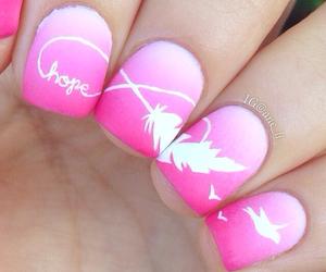 nails, pink, and hope image
