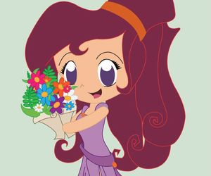 disney, hercules, and flowers image