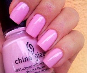 nails, pink, and china glaze image
