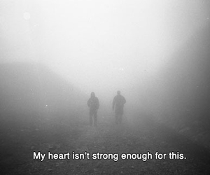 Darkness, sad, and heart image