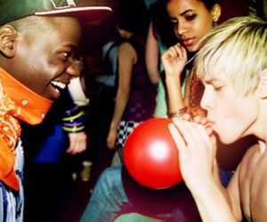 balloon, boy, and blonde image