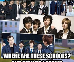 kdrama, Boys Over Flowers, and funny image
