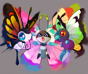 pokemon, butterfree, and beautifly image