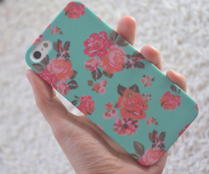 flowers, iphone, and love image