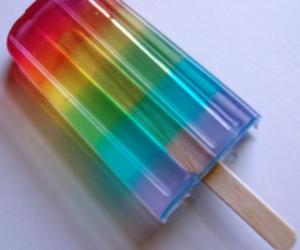 rainbow, ice cream, and food image