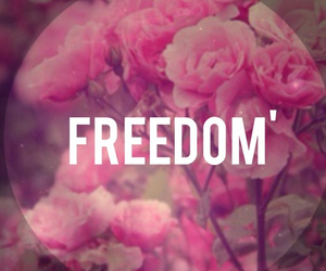 flowers, freedom, and girls image