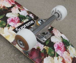 flowers, supreme, and girls image