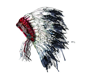 illustration, feathers, and native american image